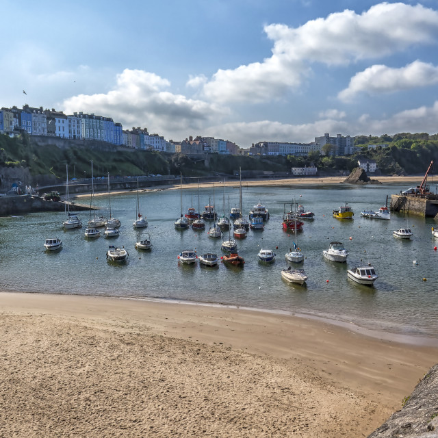 """""""Tenby Harbour"""" stock image"""