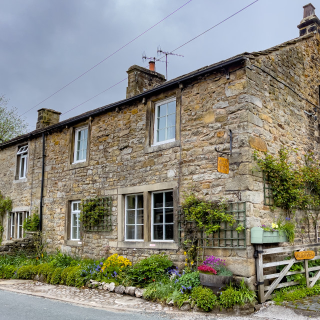"""Yorkshire Dales Cottage, Burnsall."" stock image"