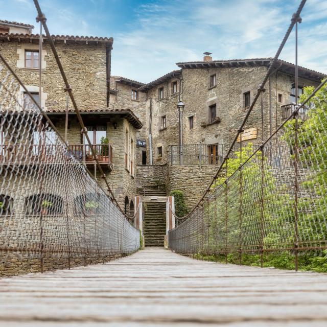"""""""Rupit suspension bridge"""" stock image"""