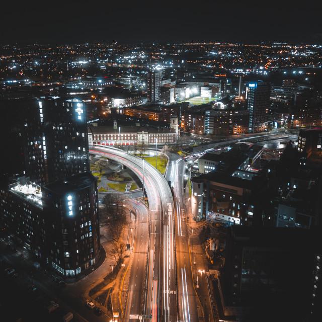 """The City Never Sleeps"" stock image"