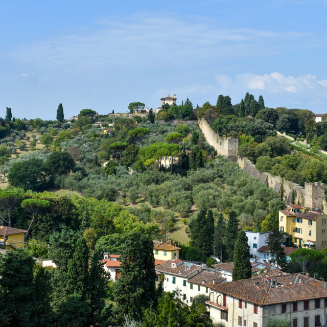 """""""City Wall in Florence"""" stock image"""
