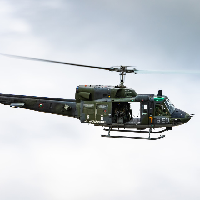 """""""HH.212 helicopter of the Italian Air Force during NATO Tiger Meet 2021"""" stock image"""