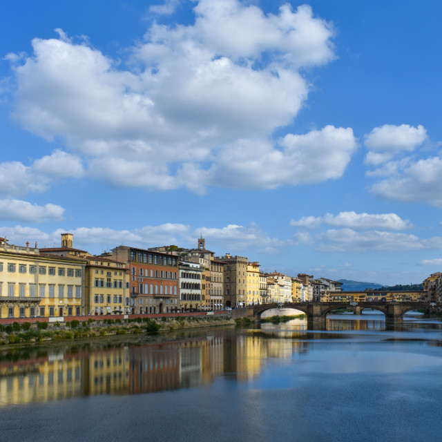 """""""Summer on the Arno"""" stock image"""