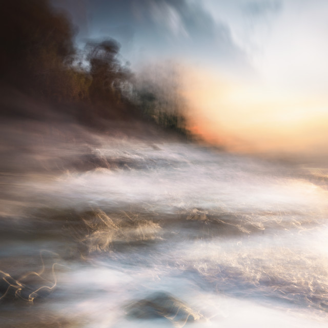 """""""Impressions. Dawn. Jervis Bay"""" stock image"""