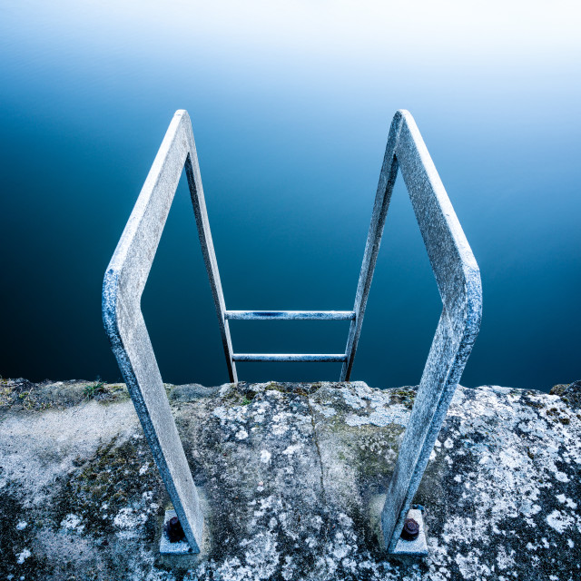 """""""Ladder to the Abyss"""" stock image"""