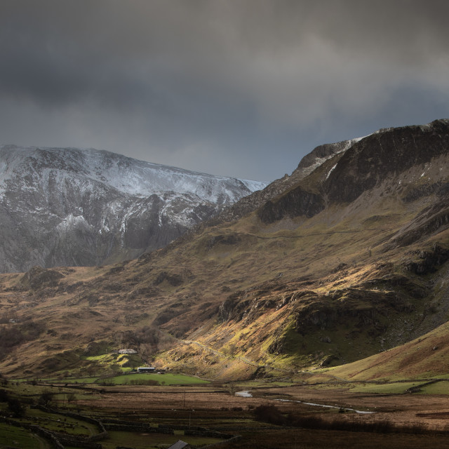 """""""The Ogwen Valley"""" stock image"""