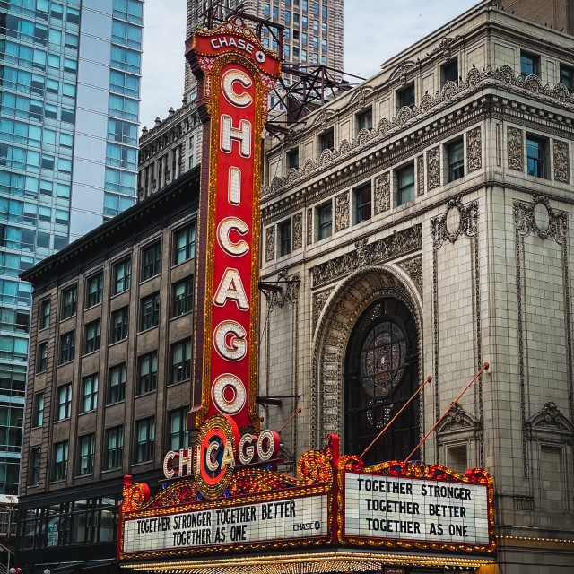 """""""Chicago Theater on State Street"""" stock image"""