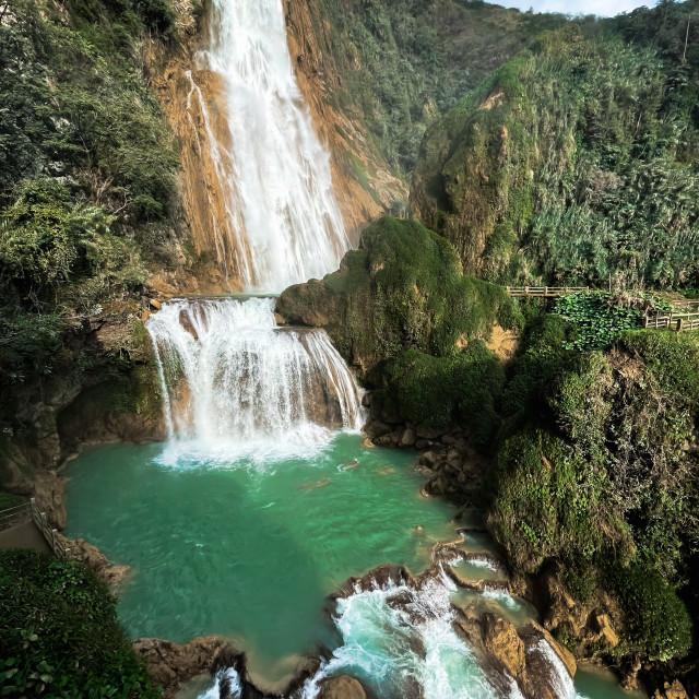 """El Chiflon Waterfalls (Cascadas El Chiflon) Chiapas, Mexico"" stock image"