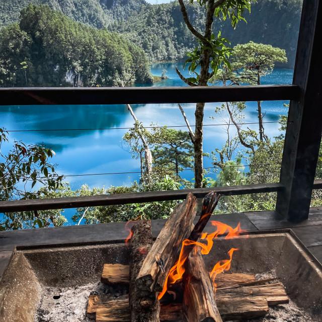 """""""Lagos de Montebello, Chiapas, Mexico (Montebello Lakes)"""" stock image"""