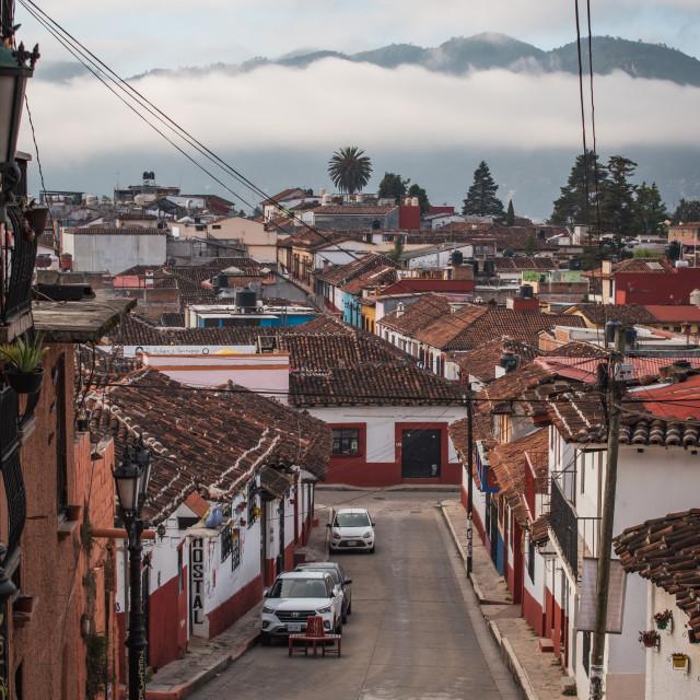 """San Cristobal de las Casas, Chiapas, Mexico"" stock image"