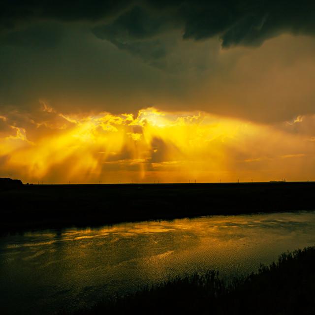 """""""Rays of Heaven"""" stock image"""