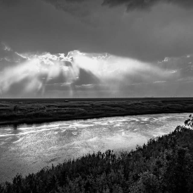 """""""Rays of Heaven (Black and White)"""" stock image"""