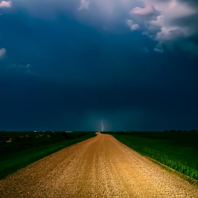 """Lightning Road"" stock image"