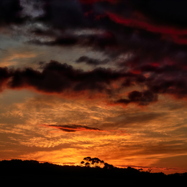 """Kronkup Sunset"" stock image"