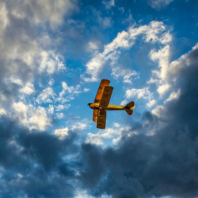 """RAF Biplane Flypast"" stock image"