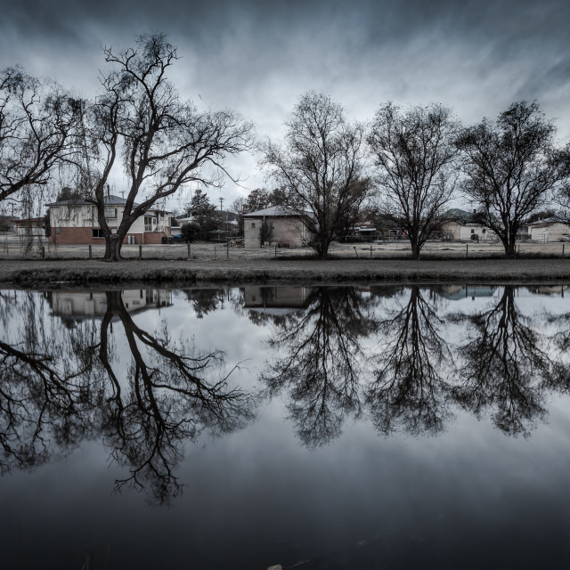 """""""Reflections on the river"""" stock image"""