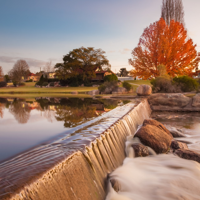 """""""waterfall in the autumn park"""" stock image"""