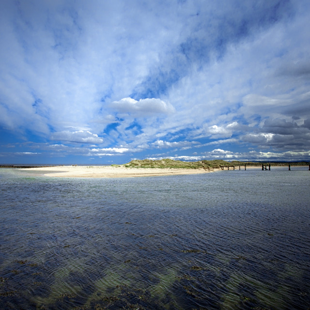 """""""Lossiemouth East Beach"""" stock image"""