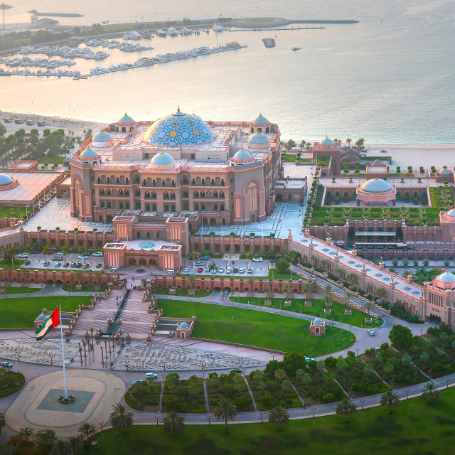 """""""Emirates palace in Abu Dhabi , one of the famous travel spots in"""" stock image"""