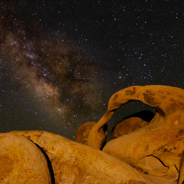 """""""Milky way over Mobius Arch"""" stock image"""