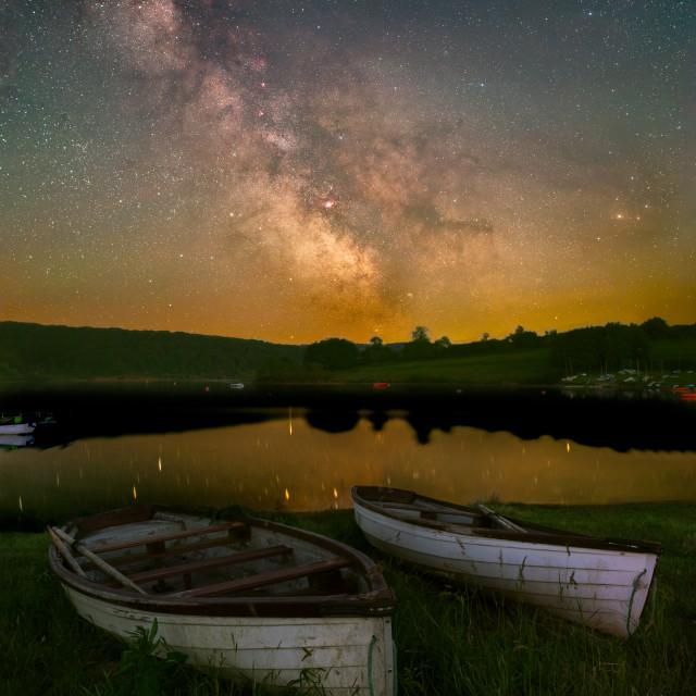 """""""Wimbleball Lake Milky Way"""" stock image"""