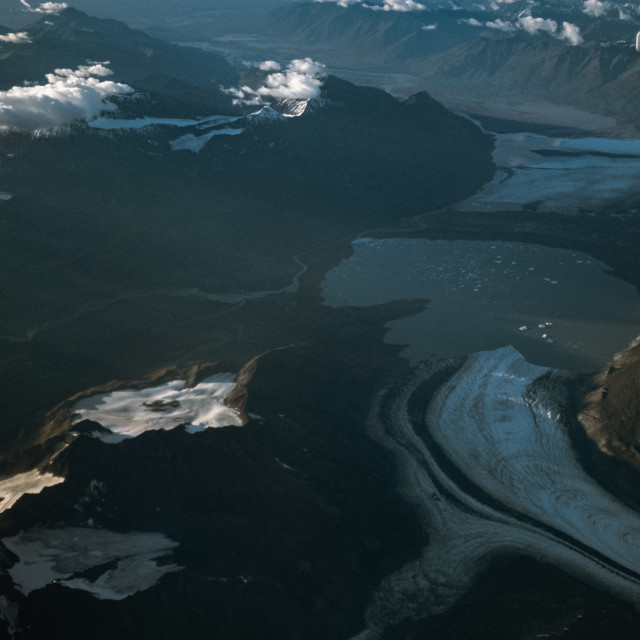 """""""Glaciers below the clouds"""" stock image"""