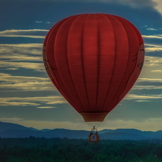 """fun-hot air balloon-arizona-balloon festival"" stock image"