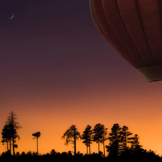 """mogollon-rim-balloon-hot air-arizona-balloon-festival"" stock image"
