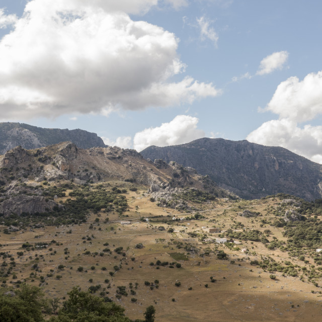 """""""Andalusian countryside, Grazalema, Andalusia, Spain"""" stock image"""