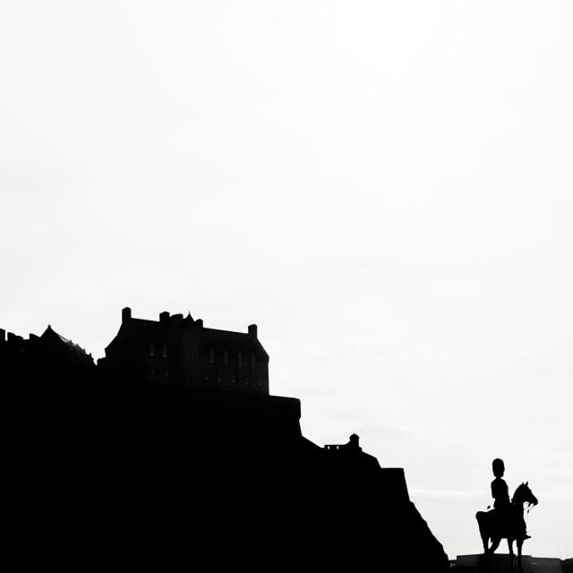"""""""Edinburgh castle silhouette"""" stock image"""