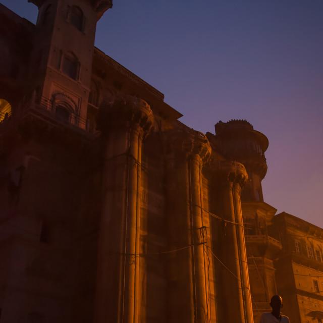 """""""Building in Varanasi"""" stock image"""