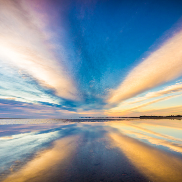 """""""Reflections of a dramatic sky"""" stock image"""