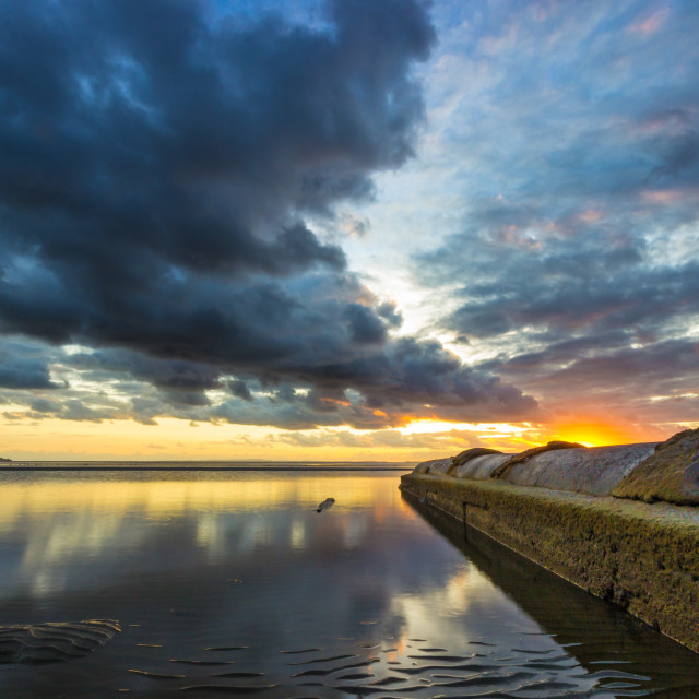 """""""Stormy morning over the bay"""" stock image"""