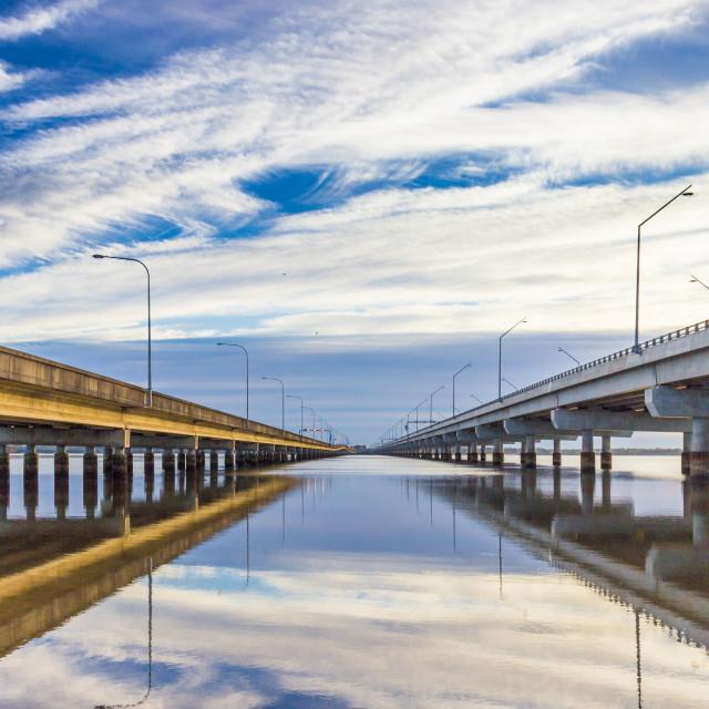 """""""between two bridges"""" stock image"""