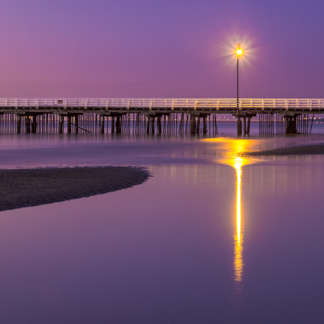 """""""Shorncliffe pier at sun rise"""" stock image"""