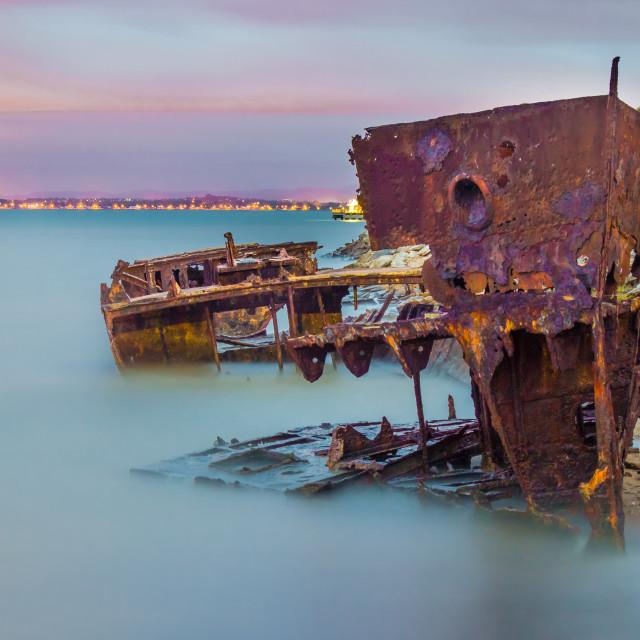 """""""The HMQS Gayundah ship wreck"""" stock image"""