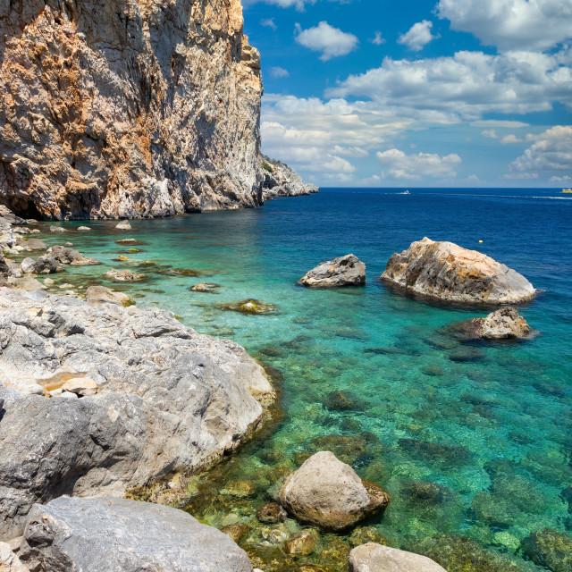 """""""Beautiful seascape in Spanish Costa Brava near small town L Estartit"""" stock image"""
