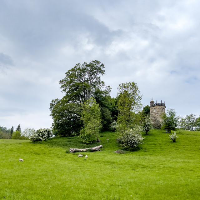 """""""Culloden Tower, Richmond, North Yorkshire."""" stock image"""