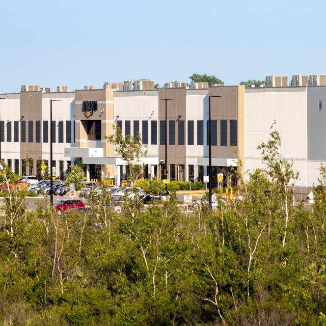 """Amazon distribution warehouse in Ottawa, Canada"" stock image"