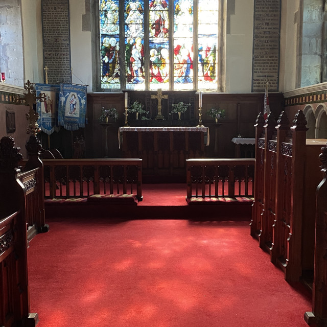 """""""St Mary's Church, Barwell, Leicestershire, June 2021"""" stock image"""