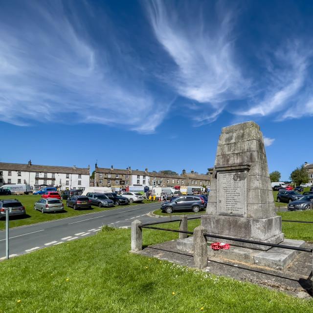 """""""War Memorial, Reeth, Swaledale."""" stock image"""