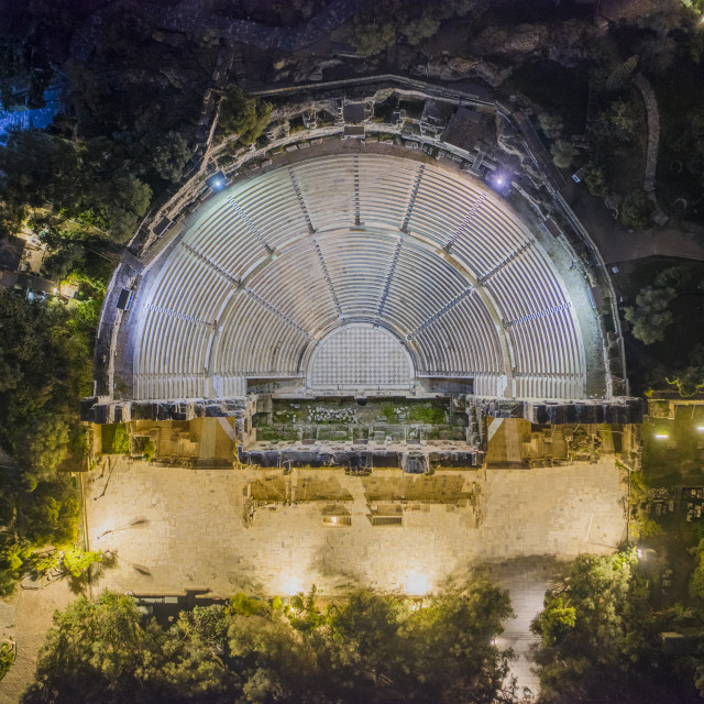 """Odeon of Herodes Atticus"" stock image"
