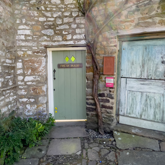 """Stable Door, Garden House Pottery, Reeth."" stock image"