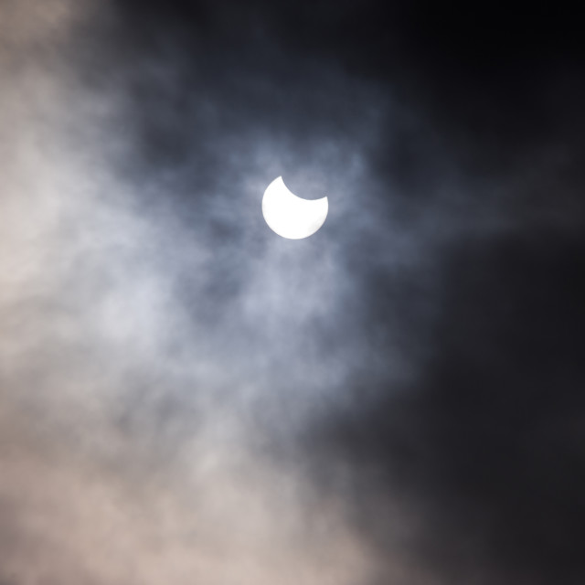 """""""Deeside Partial Eclipse"""" stock image"""