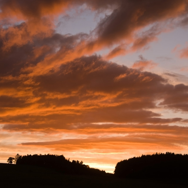"""Deeside Sunset"" stock image"