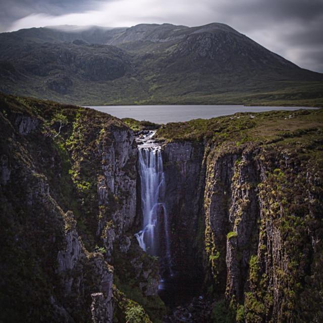 """A Wailing Widow, Kylesku, Scottish Highlands"" stock image"