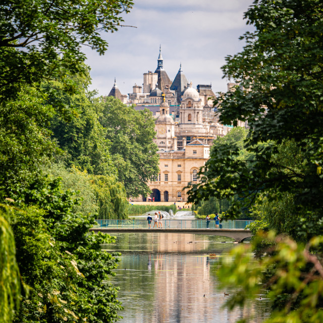 """""""Looking across St James Park in London, UK"""" stock image"""