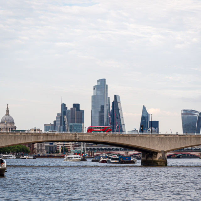 """View of London Skyline, UK"" stock image"