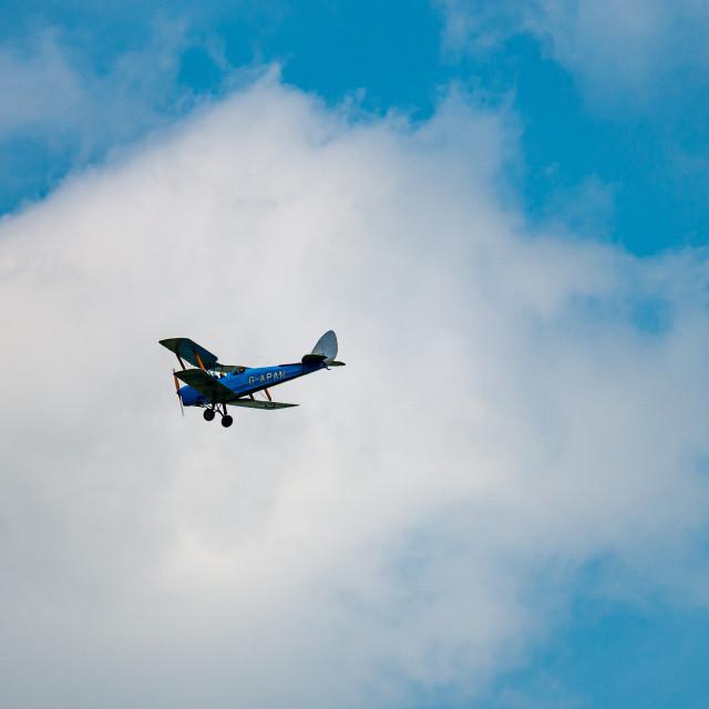 """G-APAM Biplane Flypast"" stock image"