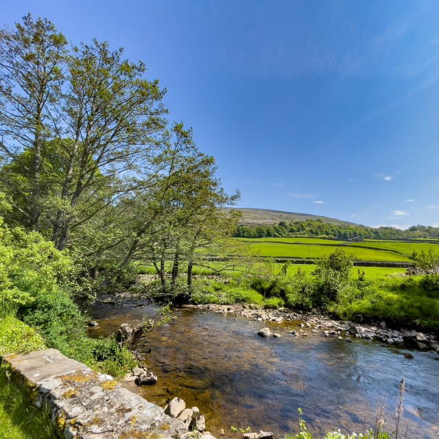 """""""Arkle Beck, Reeth, Swaledale, North Yorkshire."""" stock image"""